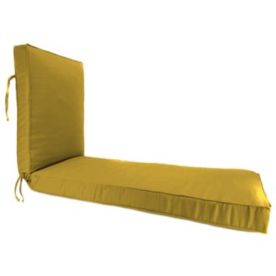 Sunbrella® 68-Inch x 24-Inch Chaise Lounge Cushion in Canvas Maize
