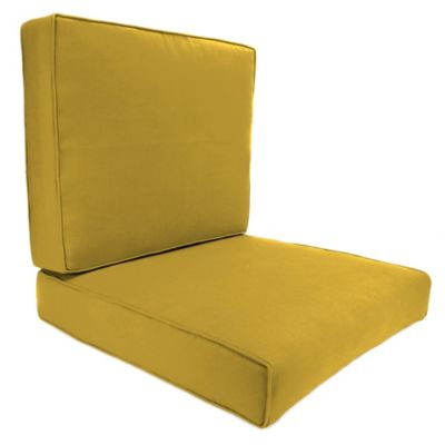 45-Inch x 25-Inch 2-Piece Deep Seat Chair Cushion in Sunbrella® Canvas Maize