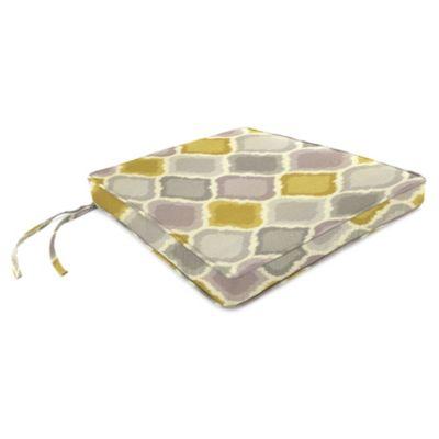 17-Inch x 18-1/2-Inch Trapezoid Chair Cushion in Sunbrella® Empire Dawn