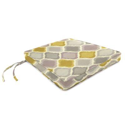18-Inch x 20-1/2-Inch Trapezoid Chair Cushion in Sunbrella® Empire Dawn