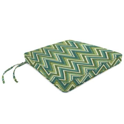 Sunbrella® 17-Inch x 18-1/2-Inch Trapezoid Chair Cushion in Fischer Lagoon