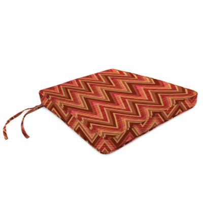 17-Inch x 18-1/2-Inch Trapezoid Chair Cushion in Sunbrella® Fischer Sunset
