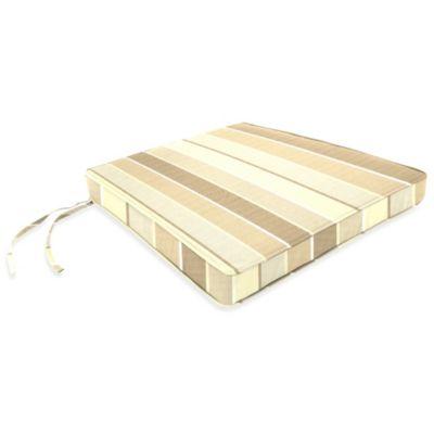 17-Inch x 18-1/2-Inch Trapezoid Chair Cushion in Sunbrella® Milano Flax