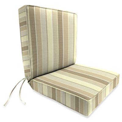 44-Inch x 22-Inch Dining Chair Cushion in Sunbrella® Milano Flax