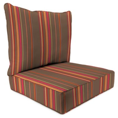 24-Inch x 24-Inch 2-Piece Deep Seat Chair Cushion in Sunbrella® Stanton Brownstone
