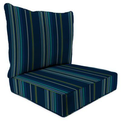 24-Inch x 24-Inch 2-Piece Deep Seat Chair Cushion in Sunbrella® Stanton Lagoon