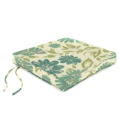 20-Inch Chair Cushion in Sunbrella® Violetta Baltic