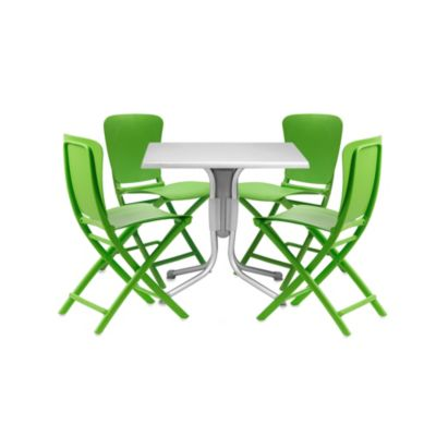 Nardi Zac 5-Piece Dining Chair Set in White