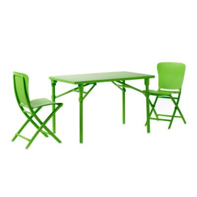 Nardi Zic Zac 3-Piece Balcony Set in Lime