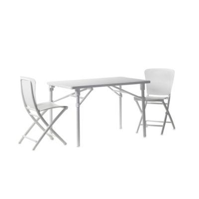 Nardi Zic Zac 3-Piece Balcony Set in White
