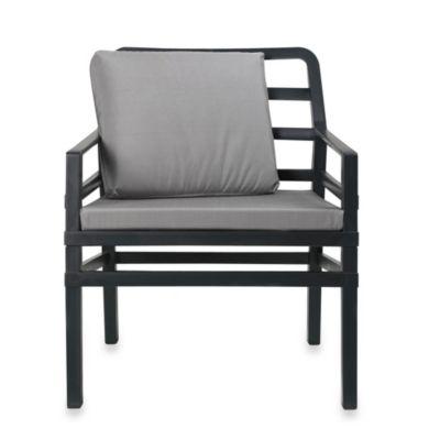 Nardi Aria Conversation Chair in Orange/White