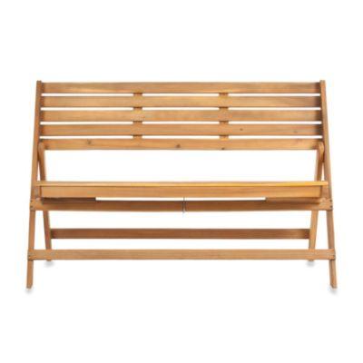 Safavieh Luca Folding Bench in Natural