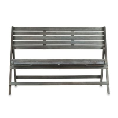 Safavieh Luca Folding Bench in Ash Grey
