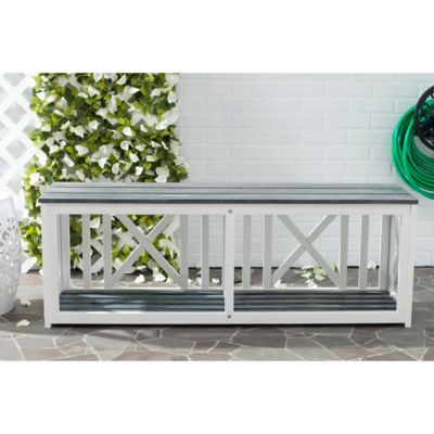 Safavieh Branco Bench in White/Grey