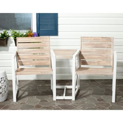 Safavieh Jovanna Bench in White/Grey