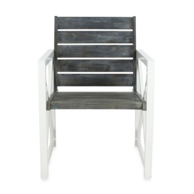 Safavieh Irina Armchair in White/Oak