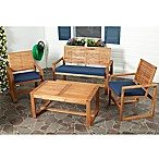 Safavieh 4-Piece Ozark Chair and Table Set