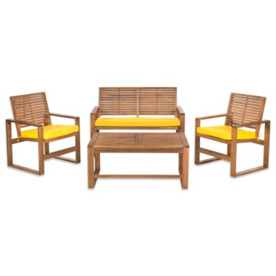 Brown/Yellow Patio Furniture Sets