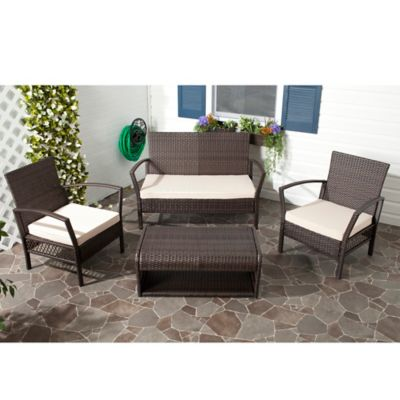 Safavieh 4-Piece Avaron Outdoor Set