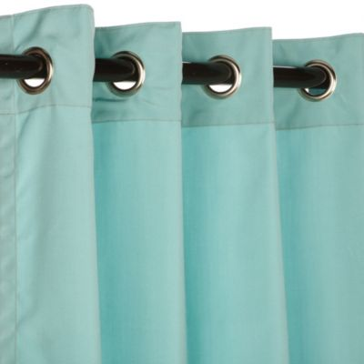 Pawleys Island® Sunbrella® 84-Inch Grommet Top Outdoor Window Curtain Panel in Glacier
