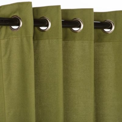 Pawleys Island Sunbrella® 50-Inch x 108-Inch Outdoor Curtain in Green