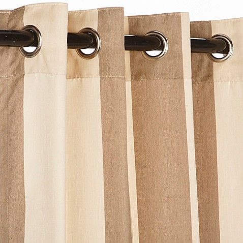Buy Pawleys Island Sunbrella 50 Inch X 108 Inch Outdoor Curtain In Sand From Bed Bath Beyond