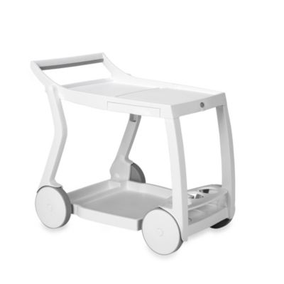 Nardi Galileo Folding Beverage Cart in White