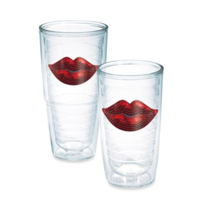 Tervis® Red Lips Sequins 16-Ounce Tumbler