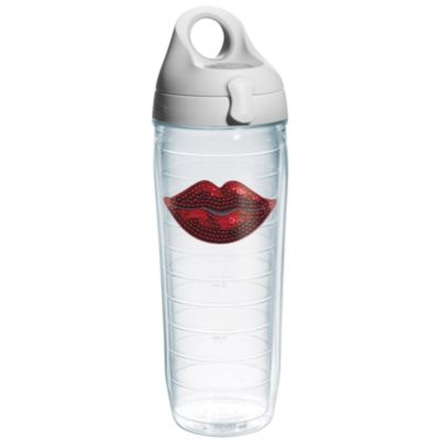 Tervis® Sequinned Red Lips Emblem 24-Ounce Water Bottle with Lid