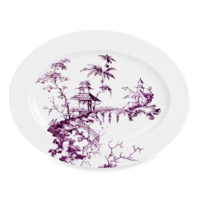 Scalamandre by Lenox® Toile Tale 16-Inch Oval Platter in Amethyst