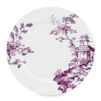 Scalamandre by Lenox® Toile Tale 11 1/2-Inch Dinner Plate in Amethyst