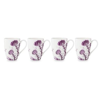 Scalamandre by Lenox® Toile Tale 16-Ounce Mug in Amethyst (Set of 4)