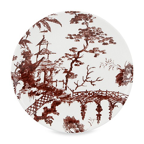 Scalamandre by Lenox® Toile Tale 9-Inch Accent Plate in Chocolate