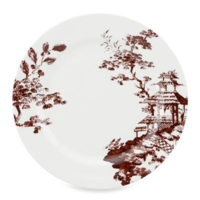 Scalamandre by Lenox® Toile Tale 11 1/2-Inch Dinner Plate in Chocolate