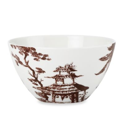 Scalamandre by Lenox® Toile Tale 24-Ounce All-Purpose Bowl in Chocolate