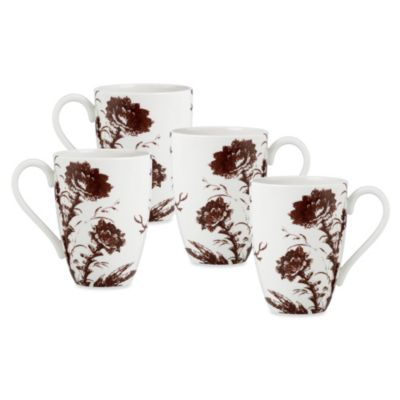 Scalamandre by Lenox® Toile Tale 16-Ounce Mug in Chocolate (Set of 4)
