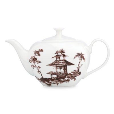 Scalamandre by Lenox® Toile Tale Teapot in Chocolate