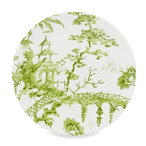 Scalamandre by Lenox® Toile Tale Chartreuse 9-Inch Accent Plate