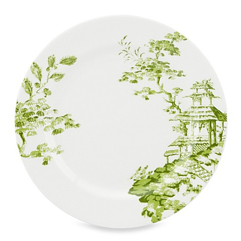 Scalamandre by Lenox® Toile Tale Chartreuse 11.5-Inch Dinner Plate