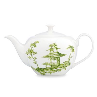 Scalamandre by Lenox® Toile Tale Chartreuse 40-Ounce Teapot