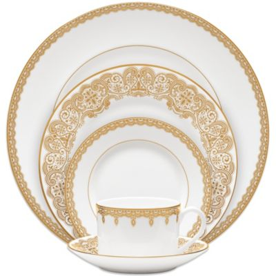 Waterford® Lismore Lace 5-Piece Place Setting in Gold