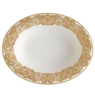 Waterford® Lismore Lace 9 1/2-Inch Vegetable Dish in Gold