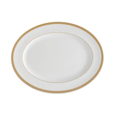 Waterford® Lismore Lace 15 1/2-Inch Oval Platter in Gold