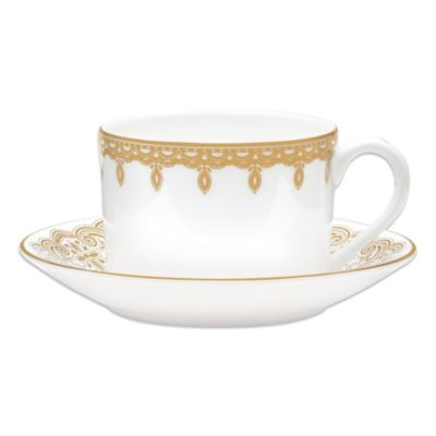 Waterford® Lismore Lace Cup and Saucer in Gold