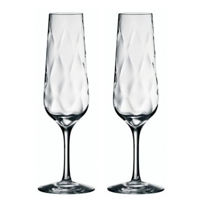 Orrefors Dizzy Diamond Champagne Toasting Flutes (Set of 2)
