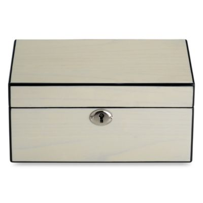 Reed & Barton Modern Lines Jewelry Box in Cream