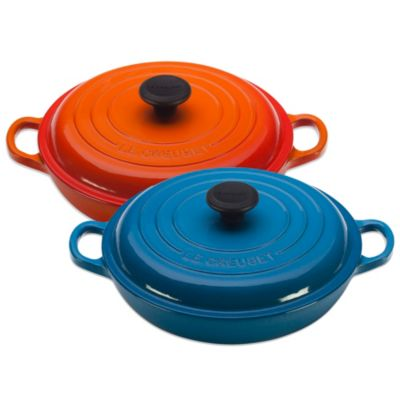 Le Creuset® Signature 1.5-Quart Braiser in Matte Black