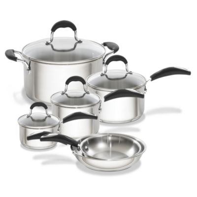 Oneida® 10-Piece Stainless Steel Cookware Set