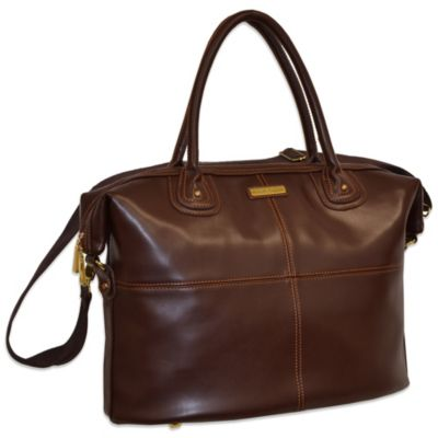 Adrienne Vittadini 14-Inch East West Laptop Tote in Brown