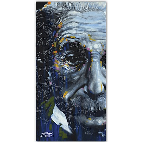 Buy Stephen Fishwick Einstein Printed Canvas Wall Art From